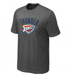 NBA Men's Oklahoma City Thunder Big & Tall Primary Logo T-Shirt - Dark Grey