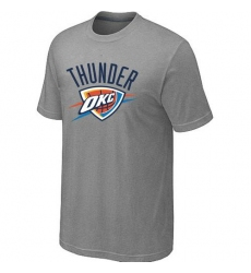 NBA Men's Oklahoma City Thunder Big & Tall Primary Logo T-Shirt - Grey