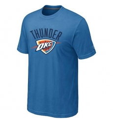 NBA Men's Oklahoma City Thunder Big & Tall Primary Logo T-Shirt - Light Blue