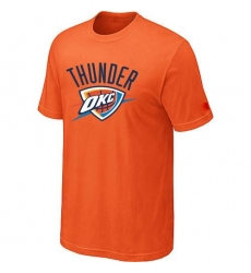 NBA Men's Oklahoma City Thunder Big & Tall Primary Logo T-Shirt - Orange