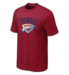 NBA Men's Oklahoma City Thunder Big & Tall Primary Logo T-Shirt - Red