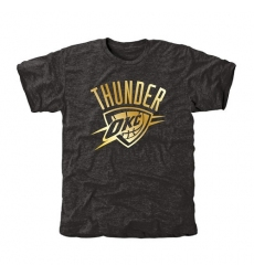 NBA Men's Oklahoma City Thunder Gold Collection Tri-Blend T-Shirt - Black