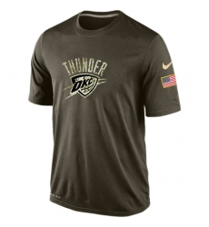 NBA Men's Oklahoma City Thunder Nike Olive Salute To Service KO Performance Dri-FIT T-Shirt
