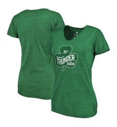 NBA Oklahoma City Thunder Fanatics Branded Women's St. Patrick's Day Paddy's Pride Tri-Blend T-Shirt - Green