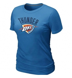 NBA Women's Oklahoma City Thunder Big & Tall Primary Logo T-Shirt - Light Blue