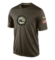 NBA Men's Philadelphia 76ers Nike Olive Salute To Service KO Performance Dri-FIT T-Shirt