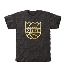 NBA Men's Sacramento Kings Gold Collection Tri-Blend T-Shirt - Black