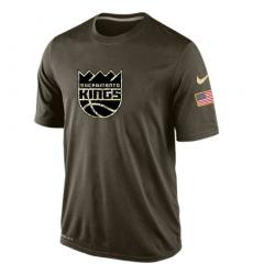 NBA Men's Sacramento Kings Nike Olive Salute To Service KO Performance Dri-FIT T-Shirt