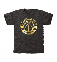 NBA Men's Washington Wizards Gold Collection Tri-Blend T-Shirt - Black