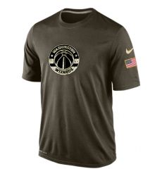 NBA Men's Washington Wizards Nike Olive Salute To Service KO Performance Dri-FIT T-Shirt