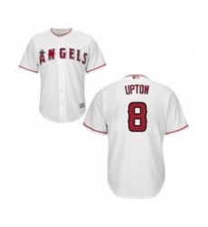 Men's Los Angeles Angels of Anaheim #8 Justin Upton Replica White Home Cool Base Baseball Jersey
