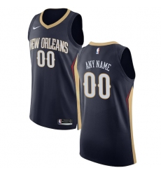 Men's New Orleans Pelicans Nike Navy Authentic Custom Jersey - Icon Edition