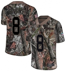 Youth Nike Minnesota Vikings #8 Kirk Cousins Camo Rush Realtree Limited NFL Jersey