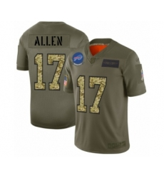 Men's Buffalo Bills #17 Josh Allen 2019 Olive Camo Salute to Service Limited Jersey