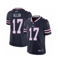 Men's Buffalo Bills #17 Josh Allen Limited Navy Blue Inverted Legend Football Jersey