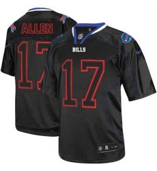 Men's Nike Buffalo Bills #17 Josh Allen Elite Lights Out Black NFL Jersey