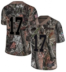 Men's Nike Buffalo Bills #17 Josh Allen Limited Camo Rush Realtree NFL Jersey