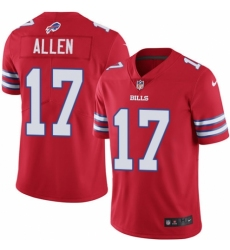 Men's Nike Buffalo Bills #17 Josh Allen Limited Red Rush Vapor Untouchable NFL Jersey