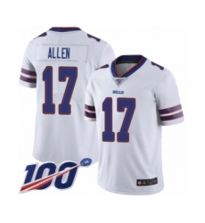 Youth Nike Buffalo Bills #17 Josh Allen White Vapor Untouchable Limited Player 100th Season NFL Jersey