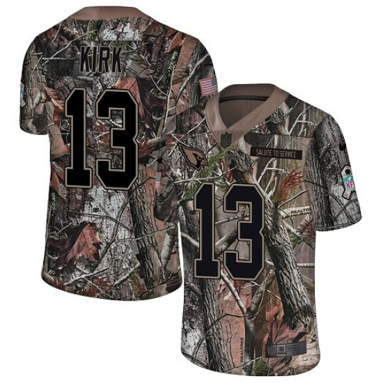 Men's Nike Arizona Cardinals #13 Christian Kirk Limited Camo Rush Realtree NFL Jersey