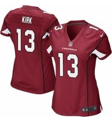 Women's Nike Arizona Cardinals #13 Christian Kirk Game Red Team Color NFL Jersey