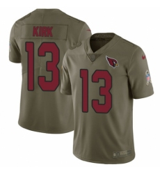 Youth Nike Arizona Cardinals #13 Christian Kirk Limited Olive 2017 Salute to Service NFL Jersey