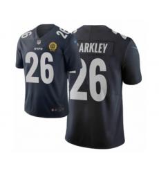 Men New York Giants #26 Saquon Barkley Navy City Edition Vapor Limited Jersey