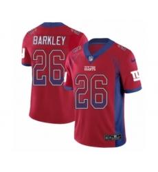 Men's Nike New York Giants #26 Saquon Barkley Limited Red Rush Drift Fashion NFL Jerseyey