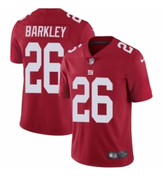 Men's Nike New York Giants #26 Saquon Barkley Red Alternate Vapor Untouchable Limited Player NFL Jersey