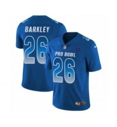 Youth Nike New York Giants #26 Saquon Barkley Limited Royal Blue NFC 2019 Pro Bowl NFL Jersey