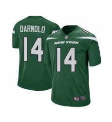 Men's New York Jets #14 Sam Darnold Game Green Team Color Football Jersey