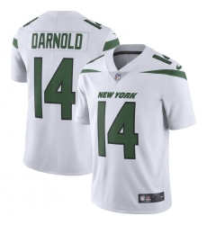 Men's New York Jets #14 Sam Darnold Nike White Vapor Limited Jersey