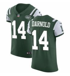 Men's Nike New York Jets #14 Sam Darnold Green Team Color Vapor Untouchable Elite Player NFL Jersey
