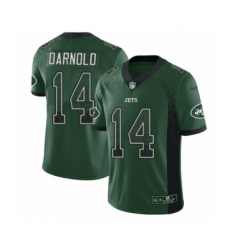 Youth Nike New York Jets #14 Sam Darnold Limited Green Rush Drift Fashion NFL Jersey