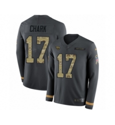 Men's Nike Jacksonville Jaguars #17 DJ Chark Limited Black Salute to Service Therma Long Sleeve NFL Jersey