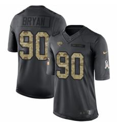 Men's Nike Jacksonville Jaguars #90 Taven Bryan Limited Black 2016 Salute to Service NFL Jersey