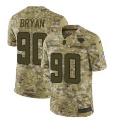Men's Nike Jacksonville Jaguars #90 Taven Bryan Limited Camo 2018 Salute to Service NFL Jersey