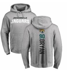 NFL Nike Jacksonville Jaguars #90 Taven Bryan Ash Backer Pullover Hoodie