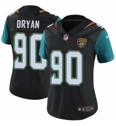 Women's Nike Jacksonville Jaguars #90 Taven Bryan Black Alternate Vapor Untouchable Elite Player NFL Jersey