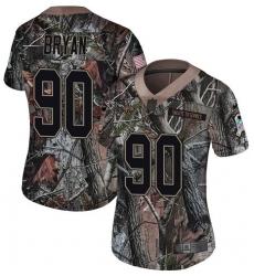Women's Nike Jacksonville Jaguars #90 Taven Bryan Camo Rush Realtree Limited NFL Jersey
