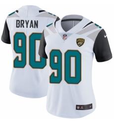 Women's Nike Jacksonville Jaguars #90 Taven Bryan White Vapor Untouchable Elite Player NFL Jersey