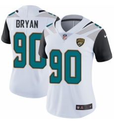 Women's Nike Jacksonville Jaguars #90 Taven Bryan White Vapor Untouchable Limited Player NFL Jersey
