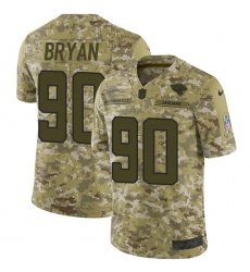 Youth Nike Jacksonville Jaguars #90 Taven Bryan Limited Camo 2018 Salute to Service NFL Jersey