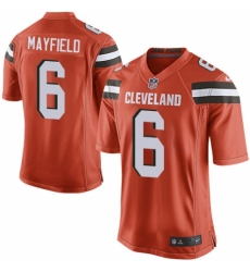 Men's Nike Cleveland Browns #6 Baker Mayfield Game Orange Alternate NFL Jersey