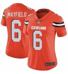Women's Nike Cleveland Browns #6 Baker Mayfield Orange Alternate Vapor Untouchable Limited Player NFL Jersey