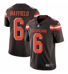 Youth Nike Cleveland Browns #6 Baker Mayfield Brown Team Color Vapor Untouchable Limited Player NFL Jersey