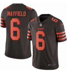 Youth Nike Cleveland Browns #6 Baker Mayfield Limited Brown Rush Vapor Untouchable NFL Jersey
