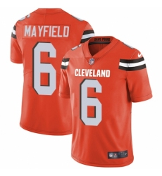 Youth Nike Cleveland Browns #6 Baker Mayfield Orange Alternate Vapor Untouchable Limited Player NFL Jersey