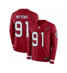 Men's Nike Arizona Cardinals #91 Benson Mayowa Limited Red Therma Long Sleeve NFL Jersey