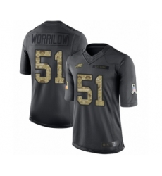 Youth Philadelphia Eagles #51 Paul Worrilow Limited Black 2016 Salute to Service Football Jersey